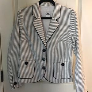 Lacoste Striped Jacket Size 40